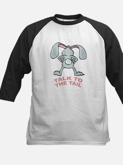 Talk To The Tail Rabbit Kids Baseball Jersey