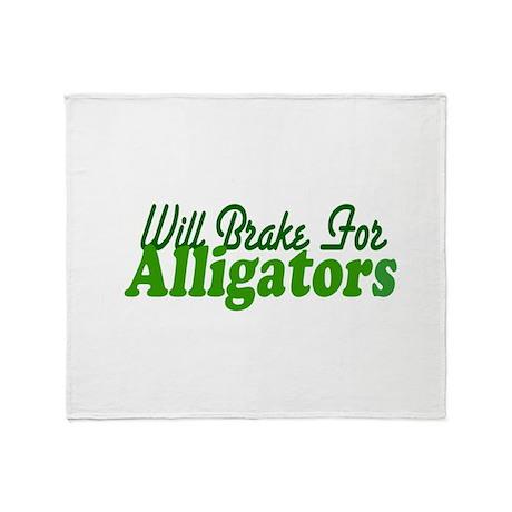 Will Brake For Alligators Throw Blanket