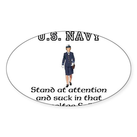 Navy Sticker (Oval 10 pk)