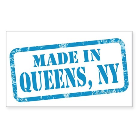 MADE IN QUEENS Sticker (Rectangle)