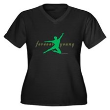 Fly Women's Plus Size V-Neck Dark T-Shirt
