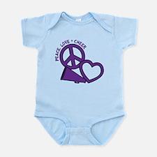 Peace, Love & Cheer Infant Bodysuit