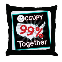 occupy together smile Throw Pillow