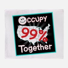 occupy together smile Throw Blanket