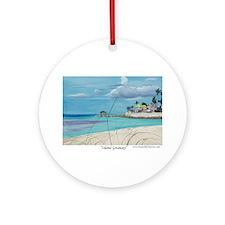 Island Getaway Ornament (Round)