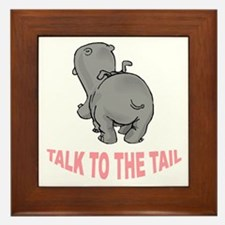 Hippo Talk To The Tail Framed Tile