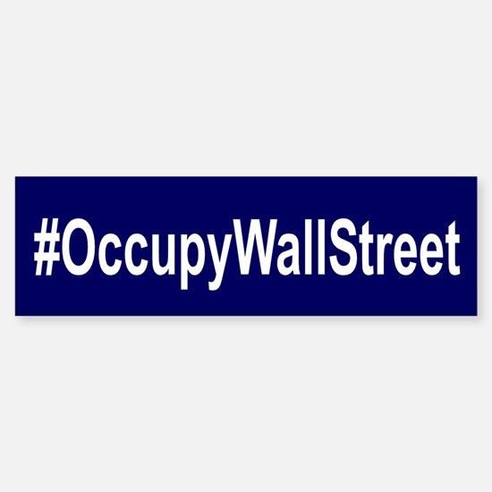 #OccupyWallStreet Sticker (Bumper)