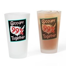occupy together peace Drinking Glass