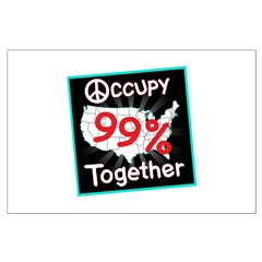 occupy together peace Posters