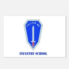 DUI - Infantry Center/School with Text Postcards (