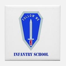 DUI - Infantry Center/School with Text Tile Coaste