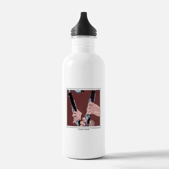 Clarinet Hands Sports Water Bottle