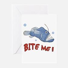 Piranha - Bite Me - Greeting Cards (Pk of 10)
