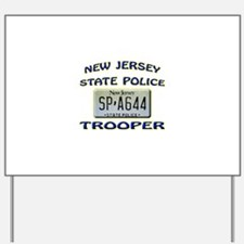 New Jersey State Police Yard Sign