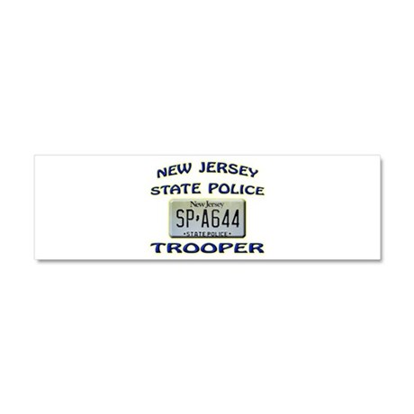 New Jersey State Police Car Magnet 10 x 3 by