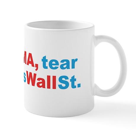 obama wall st Mug