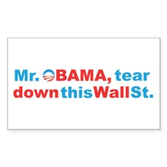 obama wall st Decal