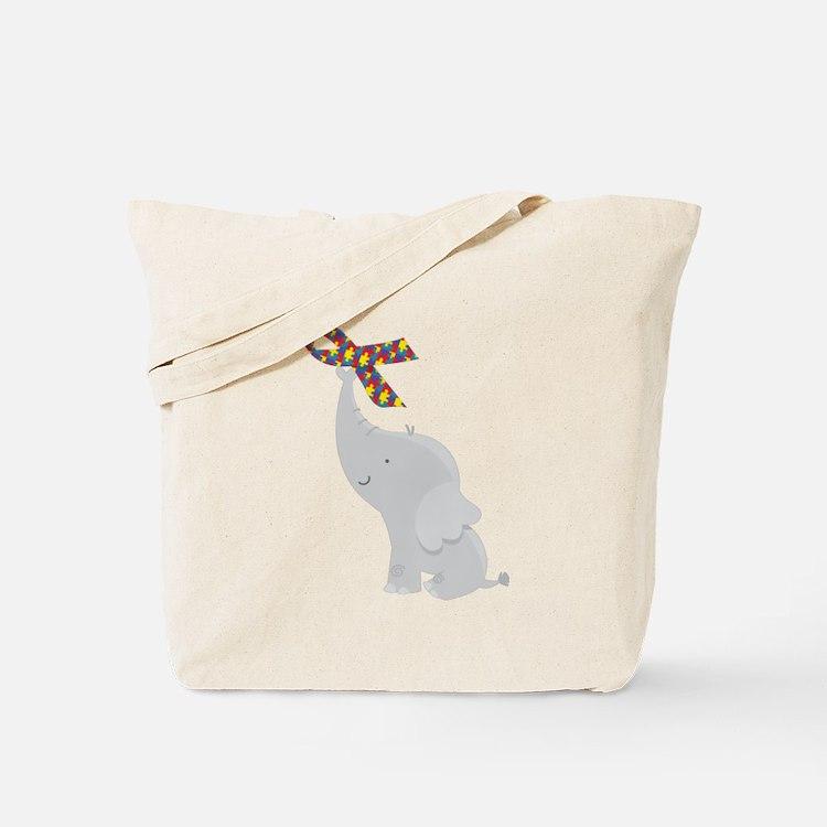 Autism Elephant Awareness Tote Bag