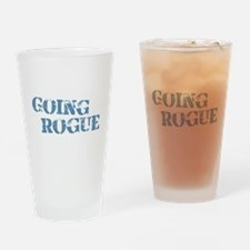 Blue Going Rogue Drinking Glass
