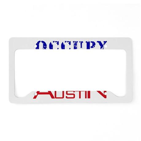 Occupy Austin License Plate Holder