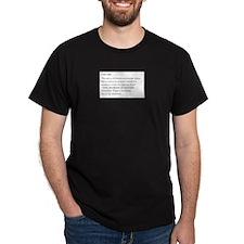 Ironic Statement Black T-Shirt