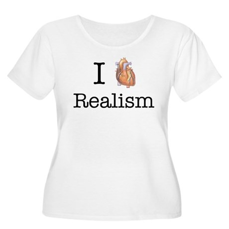 I heart realism Women's Plus Size Scoop Neck T-Shi