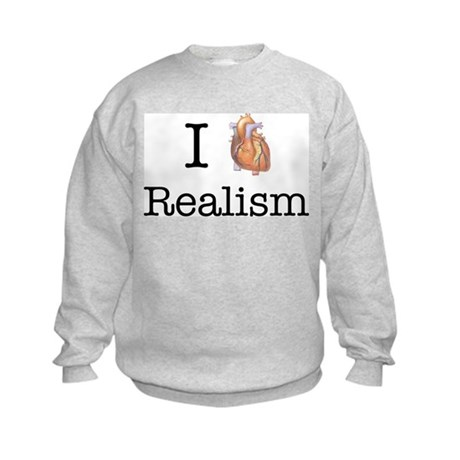 I heart realism Kids Sweatshirt