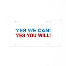 Obama Aluminum License Plate