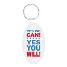 Obama Yes You Will Keychains
