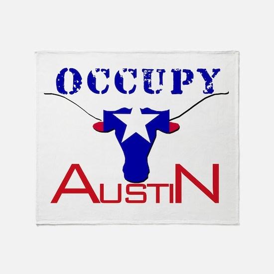Occupy Austin Throw Blanket