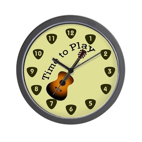 Guitar Clocks Guitar Wall Clocks Large Modern Kitchen Clocks