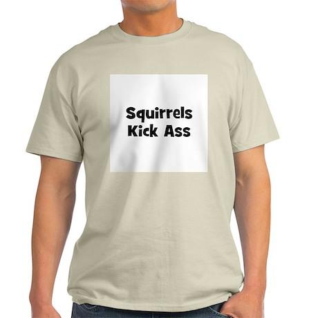 Squirrels Kick Ass Ash Grey T-Shirt
