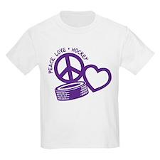 Peace, Love & Hockey T-Shirt