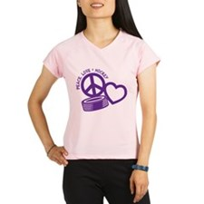 Peace, Love & Hockey Performance Dry T-Shirt