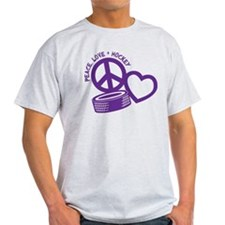 Peace, Love & Hockey T-Shirt