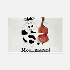 Cow Moo...sician! Rectangle Magnet