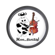 Cow Moo...sician! Wall Clock