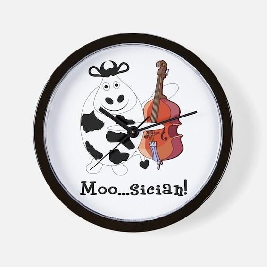 Cow Moo...sician! Wall Clock