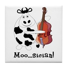 Cow Moo...sician! Tile Coaster