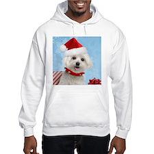Maltese Puppy Christmas Hoodie