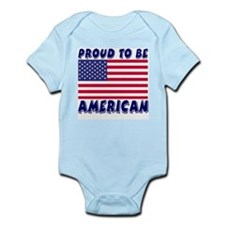 Proud to Be American Infant Creeper