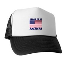 Proud to Be American Trucker Hat