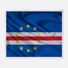 Cape Verde Flag Throw Blanket