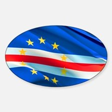 Cape Verde Flag Wave Decal