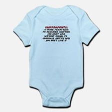 Inappropriate Definition Infant Bodysuit