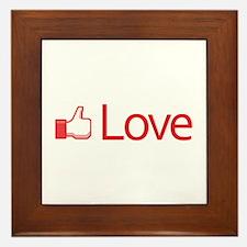 Love Button Framed Tile