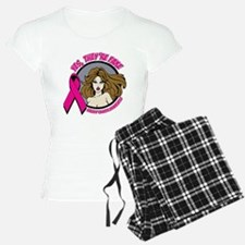 Brunette Fake Breast Cancer Pajamas