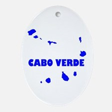 Cabo Verde Islands Oval Ornament