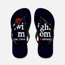 Twi Mom Red Flip Flops