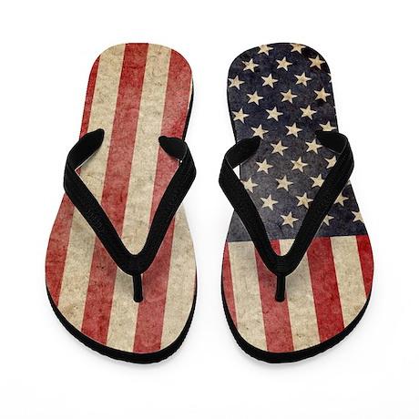 US Faded Flag Flip Flops